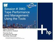 Session # 3963 Tape Performance and Management ... - OpenMPE