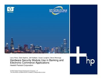 Hardware Security Module Use in Banking and ... - OpenMPE