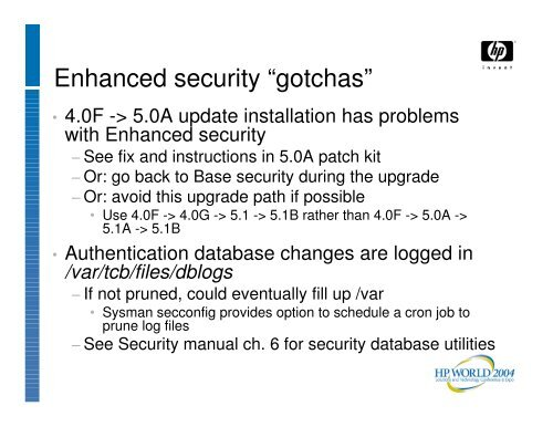Nuts and Bolts of Enhanced Security Management for ... - OpenMPE