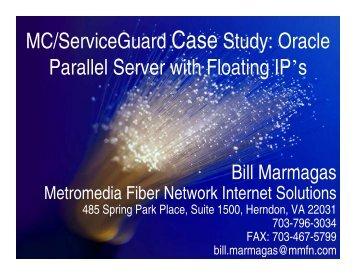 MC/ServiceGuard Case Study: Oracle Parallel Server ... - OpenMPE