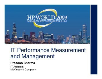 IT Performance Measurement and Management - OpenMPE