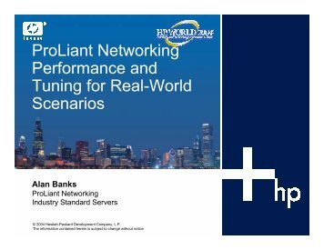 ProLiant Networking Performance and Tuning for Real ... - OpenMPE