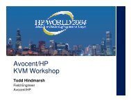 Avocent/HP KVM Workshop - OpenMPE