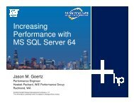 Increasing Performance with MS SQL Server 64 - OpenMPE