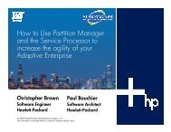 How to Use Partition Manager and the Service ... - OpenMPE