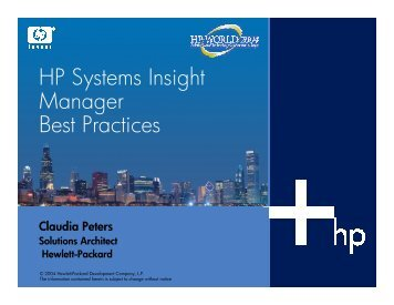 HP Systems Insight Manager Best Practices - OpenMPE