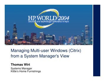 Managing Multi-user Windows (Citrix) from a System ... - OpenMPE