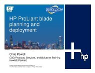 HP ProLiant Blade Planning and Deployment Workshop - OpenMPE