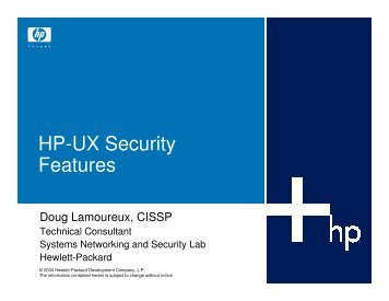 HP-UX Security Features - OpenMPE