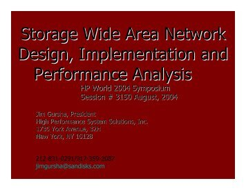 Storage Wide Area Network Design and Implementation - OpenMPE