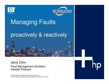 Managing Faults: Primer with Tips and Tricks, Proactive ... - OpenMPE