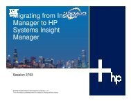 Migrating from Insight Manager to HP Systems Insight ... - OpenMPE