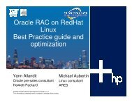 Oracle RAC on RedHat Linux Best Practice guide and ... - OpenMPE