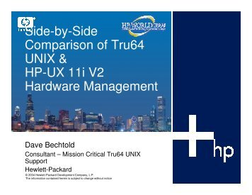Side-by-Side Comparison of Tru64 UNIX & HP-UX 11i ... - OpenMPE