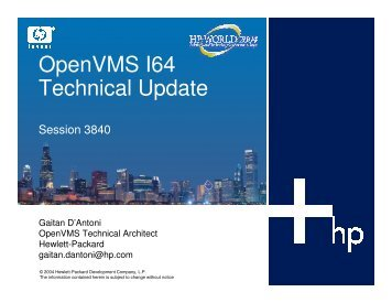 OpenVMS I64 Technical Update - OpenMPE