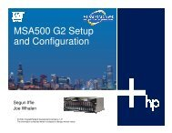 MSA500 Setup, High-Availability Clustering and DAS to ... - OpenMPE