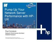 Pump Up Your Network Server Performance with HP- UX - OpenMPE