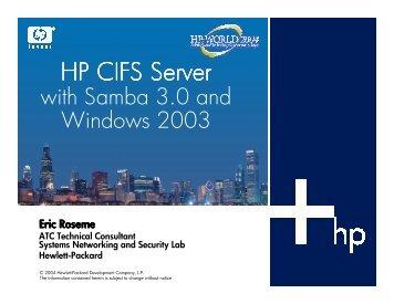 HP CIFS Server - OpenMPE