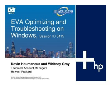 EVA Optimizing and Troubleshooting on Windows - OpenMPE