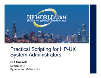 Practical Scripting for HP-UX System Administrators - OpenMPE