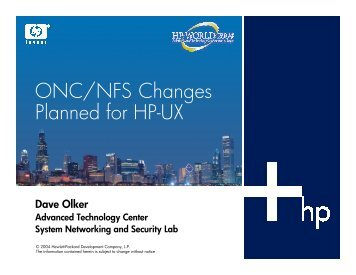 ONC/NFS Changes Planned for HP-UX - OpenMPE