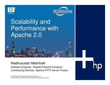 Scalability and Performance with Apache 2.0 - OpenMPE