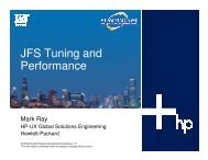 JFS Tuning and Performance - OpenMPE