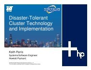 Disaster-Tolerant Cluster Technology and Implementation - OpenMPE