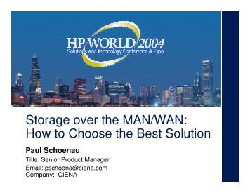 Storage over the MAN/WAN: How to Choose the Best ... - OpenMPE