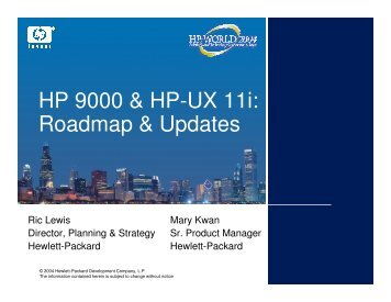 HP 9000 & HP-UX 11i: Roadmap & Updates - OpenMPE