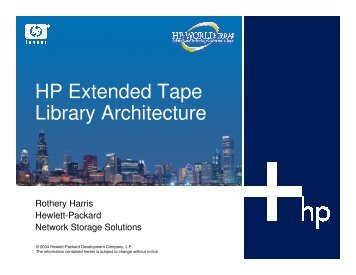 HP Extended Tape Library Architecture - OpenMPE