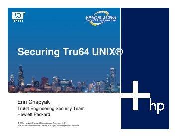 Securing Tru64 UNIX® - OpenMPE