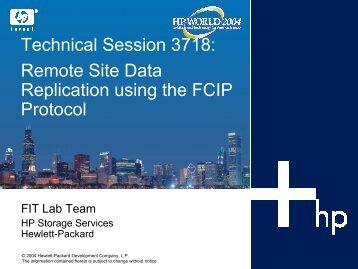 Remote Site Data Replication using the FCIP Protocol - OpenMPE