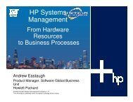 HP Systems Management: From Hardware Resources ... - OpenMPE