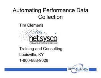 Automating Performance Data Collection - OpenMPE