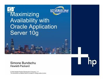 Maximizing Availability with Oracle Application Server 10g - OpenMPE