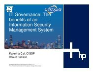The benefits of an Information Security Management ... - OpenMPE