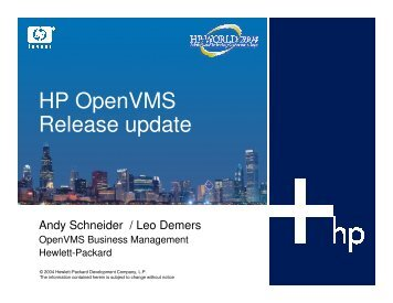 HP OpenVMS Release update - OpenMPE