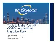 Tools to Make Your HP COBOL Applications Migration ... - OpenMPE