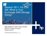 It's 2:00 AM: What Is Your Exchange SAN Storage Doing? - OpenMPE