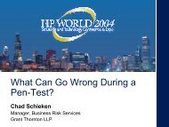 What Can Go Wrong During a Pen-Test? - OpenMPE