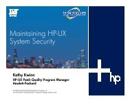 Maintaining HP-UX System Security - OpenMPE