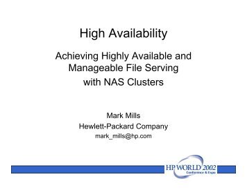 Achieving Highly Available and Manageable File ... - OpenMPE