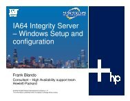 IA64-based Integrity Server: Setup and Configuration - OpenMPE