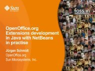 OpenOffice.org Extensions development in Java with NetBeans in ...