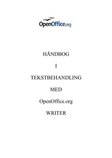 HÅNDBOG I TEKSTBEHANDLING MED OpenOffice.org ... - KLID