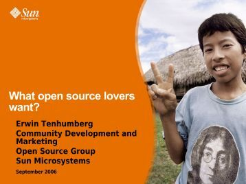What open source lovers want? - OpenOffice.org