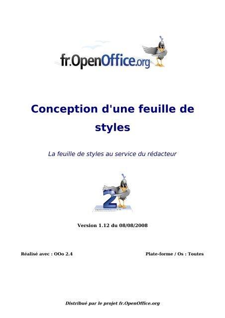 Conception d'une feuille de styles - OpenOffice.org