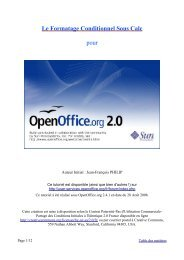 Le Formatage Conditionnel Sous Calc pour - OpenOffice.org