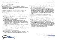 Windows 9x/2000/XP - OpenOffice.org